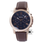 Grant FS5068 Brown Rose Gold With Blue Dial