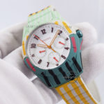 POPTASTIC ES4244 SPORT MULTIFUNCTION STRIPED SILICONE WATCH