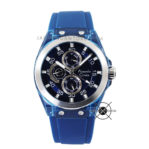 AC 6546 MF Rubber Blue Silver 44mm
