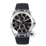 AC 6546MF Rubber Black Silver Case Transparan 44mm