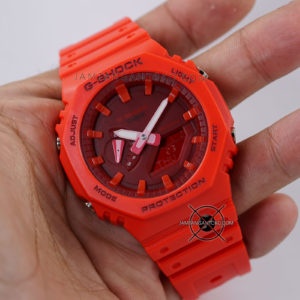 G-Shock GA-2100-4A Full Red Original BM Hands ON 1