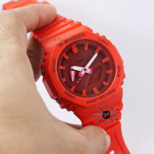 G-Shock GA-2100-4A Full Red Original BM Hands ON 2
