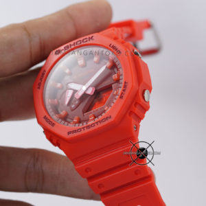 G-Shock GA-2100-4A Full Red Original BM Hands ON 3