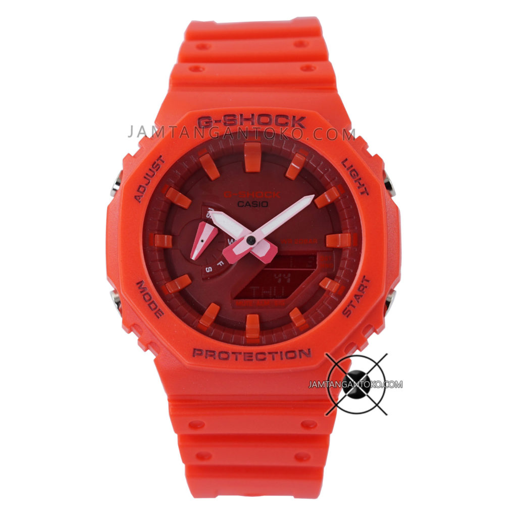 Jam tangan Casio G-Shock GA-2100-4A Full Red Original BM