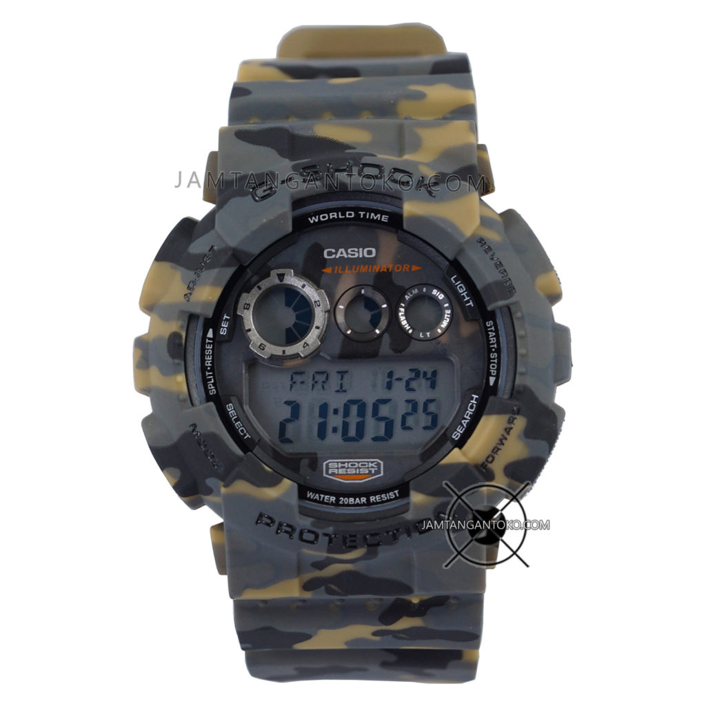 Jam tangan Casio G-Shock GD-120CM-5 Camo Brown Loreng Coklat Army Original BM