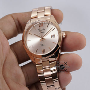 Alexandre Christie Wanita AC 2840 LD Full Rose Gold Hands ON 2