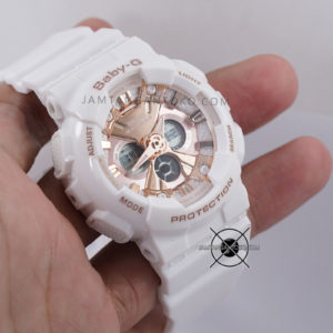 BA-130-7A1 Putih Dial Full Rosegold Hands ON 1