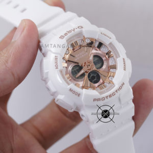 BA-130-7A1 Putih Dial Full Rosegold Hands ON 2