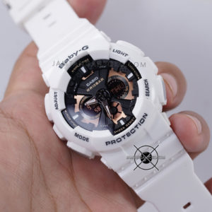 BA-130-7A4 Putih Dial Black Rosegold Hands ON 2