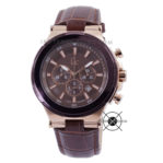 Gc Structura Y23009G4 Rose Gold Brown Leather
