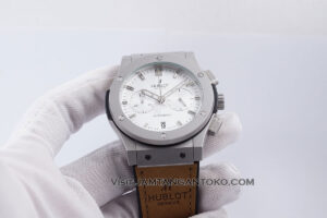 HUBLOT Classic Fusion Chronograph 44mm Silver White Dial Ukuran Pria KW SUPER AAA Realpict Hands ON 2