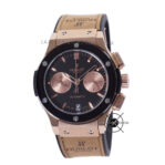 Classic Fusion Chronograph 40mm Black Rose Gold With Brown Strap