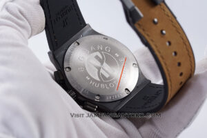HUBLOT Classic Fusion Berluti Chronograph 45mm Limited Edition Black Brown KW Super AAA Realpict Bagian Back Case