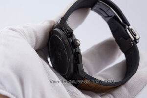HUBLOT Classic Fusion Berluti Chronograph 45mm Limited Edition Black Brown KW Super AAA Realpict Bagian Samping 1