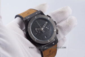 HUBLOT Classic Fusion Berluti Chronograph 45mm Limited Edition Black Brown KW Super AAA Realpict Hands ON 1