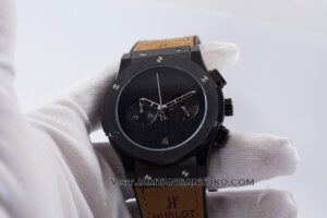 HUBLOT Classic Fusion Berluti Chronograph 45mm Limited Edition Black Brown KW Super AAA Realpict Hands ON 3