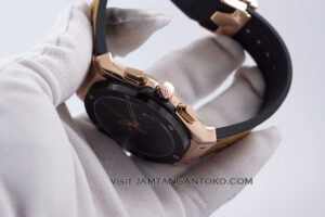 HUBLOT Pria Classic Fusion Berluti Chronograph 45mm Limited Edition Black Rose Gold KW Super AAA Realpict Bagian Samping 1
