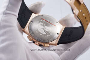 HUBLOT Pria Classic Fusion Berluti Chronograph 45mm Limited Edition Black Rose Gold KW Super AAA Realpict Bagian back Case