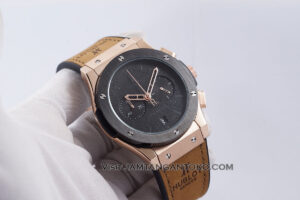 HUBLOT Pria Classic Fusion Berluti Chronograph 45mm Limited Edition Black Rose Gold KW Super AAA Realpict Hands ON 1