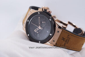 HUBLOT Pria Classic Fusion Berluti Chronograph 45mm Limited Edition Black Rose Gold KW Super AAA Realpict Hands ON 3