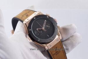 HUBLOT Pria Classic Fusion Berluti Chronograph 45mm Limited Edition Black Rose Gold KW Super AAA Realpict Hands ON 4