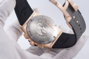 Hublot Classic Fusion Berluti Chronograph 45mm Limited Edition Grey Rose Gold KW Super AAA Realpict Bagian Back Case