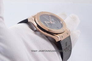 Hublot Classic Fusion Berluti Chronograph 45mm Limited Edition Grey Rose Gold KW Super AAA Realpict Bagian Samping 2