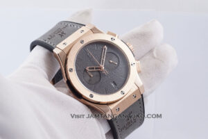 Hublot Classic Fusion Berluti Chronograph 45mm Limited Edition Grey Rose Gold KW Super AAA Realpict Hands ON 1