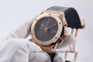 Hublot Classic Fusion Berluti Chronograph 45mm Limited Edition Grey Rose Gold KW Super AAA Realpict Hands ON 2