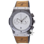 Classic Fusion Berluti Chronograph 45mm Limited Edition Silver White Dial