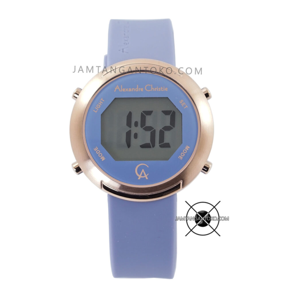 Jam Tangan Alexandre Christie AC 9337 LH Digital Blue Rubber 38mm
