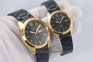 Jam tangan Couple Alexandre Christie Primo AC 1012 Rantai Black Gold Termurah Original Gb1